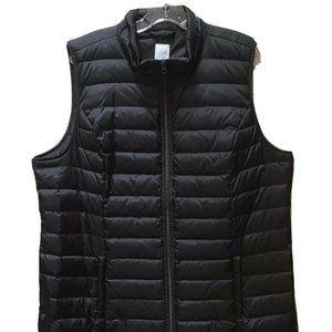 J Jill Puffer Down Vest Zipper Side Snaps